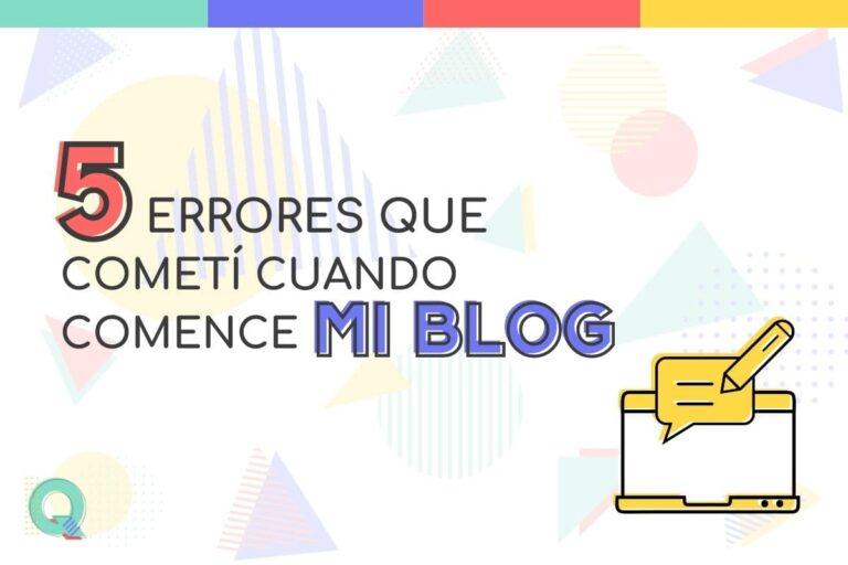 Errores al crear un blog