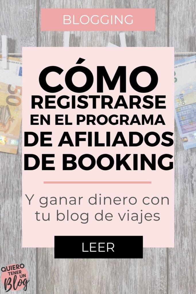 Cómo registrarse en el programa de afiliados de booking