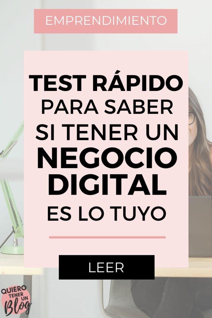 Test rápido para saber si tener un negocio digital es lo tuyo