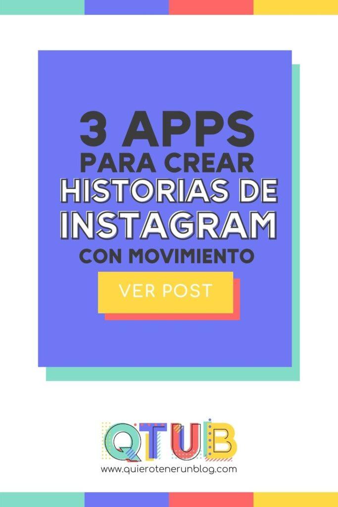 Crear historia de instagram con movimiento